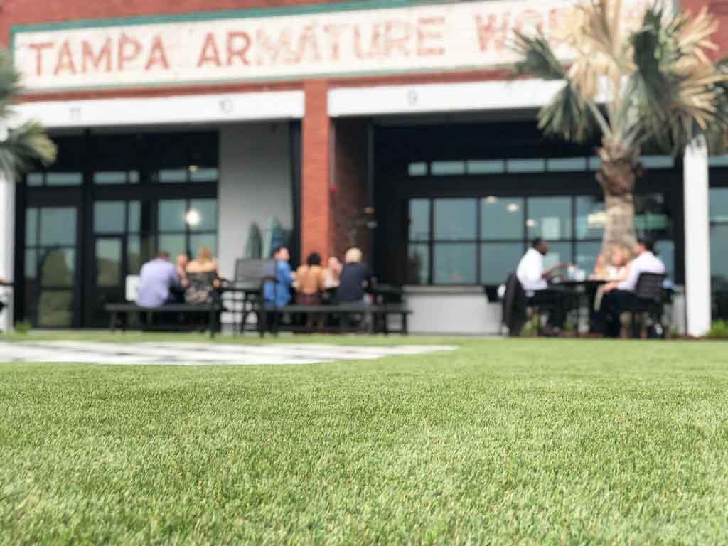 Armature Works synthetic grass lawn