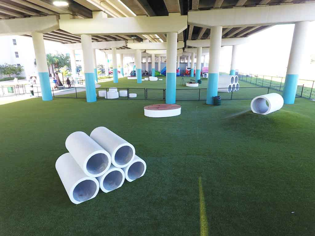artificial grass for dogs at Kotfila Memorial Dog Park