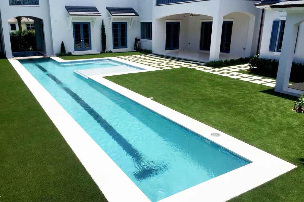 ForeverLawn Poolside Installation